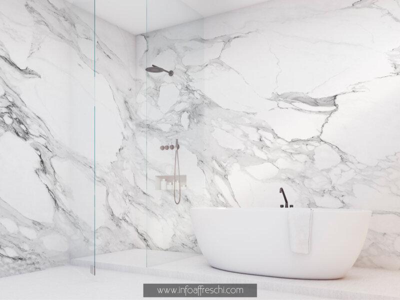 Carta da parati marmo effetto marmo grigio design materico per arredamento moderno