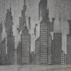 Carta da parati con panorama New York perfetta per un arredamento in stile industriale