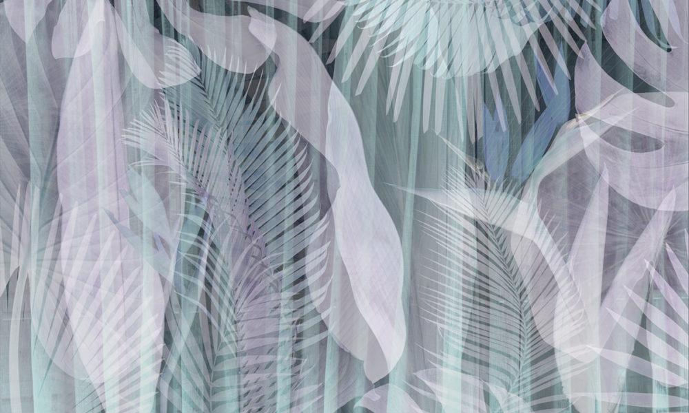 Parete effetto tropical con piante e foglie