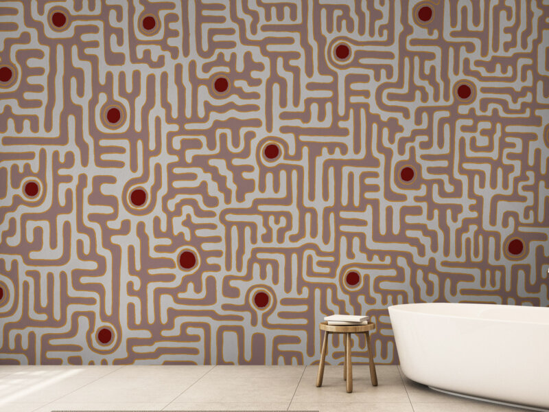 carta da parati design architecture wallpaper archiproducts materic art wall parati materici geometric labirinto