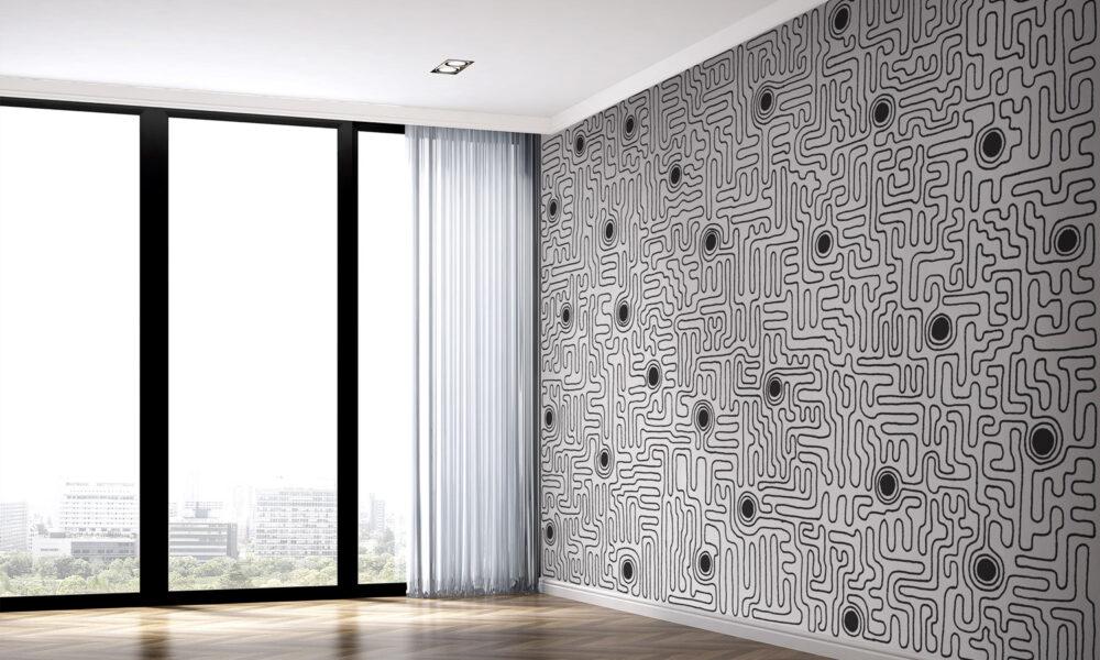 carta da parati design architecture wallpaper archiproducts materic art wall parati materici geometric labirinto